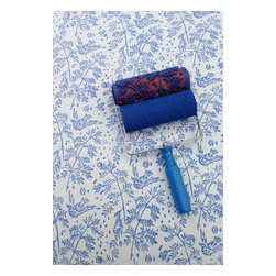 NotWallpaper - Patterned Paint Roller and Applicator, Spring Bird - Patterned Paint Roller and Applicator combo set