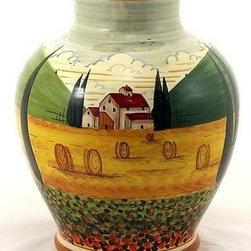 Artistica - Hand Made in Italy - Paesaggio Toscana: Vase Palla - Paesaggio Toscana: