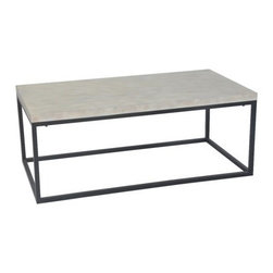 Threshold Mixed Metal Coffee Table, White - Target's Threshold mixed-metal coffee table is a cheap and chic box frame table look-alike.