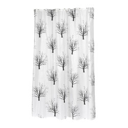 "Extra Long ""Faith"" Fabric Shower Curtain - ""Faith"" extra long 100% polyester fabric shower curtain, size 70"" wide x 84"" long. With its solemn, tree print, our Extra Long ""Faith"" Shower Curtain will help bring tranquility to your bathroom.  Specially designed to fit where a standard size curtain is too short (curtain measures 70'' wide x 84'' long), ""Faith"" is 100% polyester, machine washable, and water resistant. For those with varying size needs, ""Faith"" comes in standard and extra wide. Also available separately is the matching ""Faith"" window curtain. Machine wash in warm water, tumble dry, low, light iron as needed"