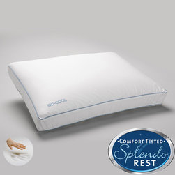 Splendorest - Splendorest IsoCool Side Sleeper Memory Foam Bed Pillow with Outlast Cover - The perfect pillow to provide you with the support you need while you sleep, this comfortable side sleeper memory foam pillow from Splendorest will help you have sweet dreams. It features a special air-flow technology to keep you cooler.