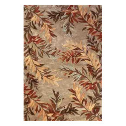 KAS - Sparta Tropical Branches 3144 Sage Rug by Kas - 3 ft 6 in x 5 ft 6 in - The use of floral patterns and color stylings is simply amazing in the Sparta Collection from Kas. Hand tufted of high-density wool, each rug potrays an unqiue floral arrangement that is both elegant and fashion forward. The use of different colors is simply wonderful with each peice more eye-popping than the next. If it's a floral themed rug you are in the market for, look no further than the Sparta Collection from Kas.
