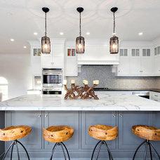 Transitional Kitchen by Kastel Kitchen Gallery, LLC
