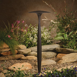 LANDSCAPE - LANDSCAPE 15833AZT Led Broad Roof Path Light - A sculpted spindle center is capped by a broad, shallow roof that diffuses and spreads LED light.