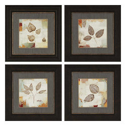 Paragon - Silver Leaves PK/4 - Framed Art - Each product is custom made upon order so there might be small variations from the picture displayed. No two pieces are exactly alike.