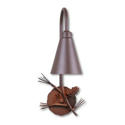 Avalanche-Ranch - Pine Cone Art: Alpine Sconce - Rustic Wall Lights - Indoor + Outdoor with Pine Cone artwork - Takes (1) 60W Medium bulb(s)