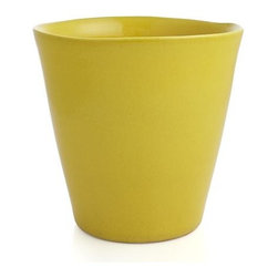 Festive Small Yellow Planter - Pepper your patio with our zesty terra cotta planters decked out in festive brights. Use our coordinating Wall Planter Hook (sold separately) to hang a rainbow of sunny color on exterior or sunroom walls.