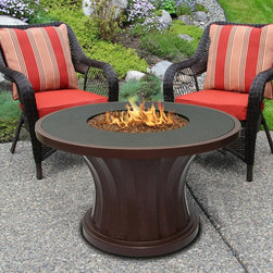 California Outdoor Concepts - Rodeo Fire Pit Chat Table - With very simple design and finish choices, this tabletop fire pit can serve any area well.
