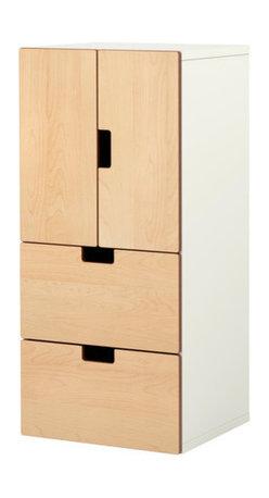 Ebba Strandmark - STUVA Storage combination w doors/drawers - Storage combination w doors/drawers, white, birch