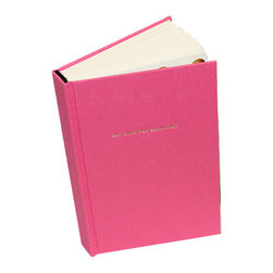 "Kate Spade - Kate Spade Pink Journal - Thoughts become things, so don't forget. Write them in this elegantly fun journal. Covered in pink book cloth with the words ""eat cake for breakfast"" in gold foil. Six ribbon bookmarks help to organize your thoughts. 300 Lined Pages - 8""H X 5""W"