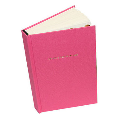"""Kate Spade - Kate Spade Pink Journal - Thoughts become things, so don't forget. Write them in this elegantly fun journal. Covered in pink book cloth with the words """"eat cake for breakfast"""" in gold foil. Six ribbon bookmarks help to organize your thoughts. 300 Lined Pages - 8""""H X 5""""W"""