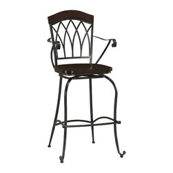 Arielle Stool - This is elegance personified. No detail is overlooked. If you have a bar or a high countertop begging for just the right chair, this is it. You'll never think of it as a barstool. It'll be 'Arielle' for evermore.