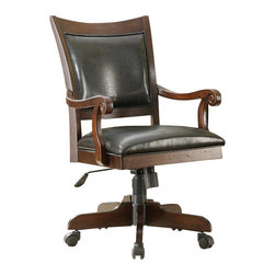 Riverside Furniture - Riverside Furniture Castlewood Desk Chair in Warm Tobacco - Riverside Furniture - Office Chairs - 33538 - Riverside's products are designed and constructed for use in the home and are generally not intended for rental, commercial, institutional or other applications not considered to be household usage.