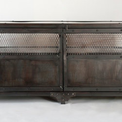 Real Industrial Edge Furniture llc - Industrial media cabinet, TV stand, entertainment center - 60 inch wide 17 deep and 26 high media cabinet.  Everything can be customized.