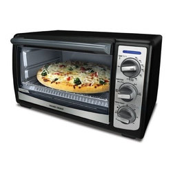 BLACK & DECKER - B&D TRO4075B BLACK TOASTER OVEN 4SLICE WITH CONVECTION -