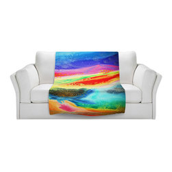 DiaNoche Designs - Fleece Throw Blanket by Jennifer Baird - Inner Journey - Original Artwork printed to an ultra soft fleece Blanket for a unique look and feel of your living room couch or bedroom space.  DiaNoche Designs uses images from artists all over the world to create Illuminated art, Canvas Art, Sheets, Pillows, Duvets, Blankets and many other items that you can print to.  Every purchase supports an artist!