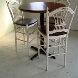 Wooden Fan Stool For High Top Pub Table - Made by www.ecustomfinishes.com