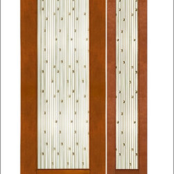 """AAW Inc. - Contemporary Entry Door Model NW-1679 - Model NW-1679 from our New World Collection. Door is solid Mahogany, 2-1/4"""" thick with a unique beveled glass."""