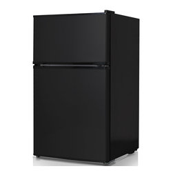 Keystone 3.1-cubic-foot Compact 2-door Refrigerator/Freezer, Black - Refrigerators take up so much space. I imagine that if you're single, you don't really need a mostly empty fridge in the house (something about energy waste). This mini fridge has a functional freezer and is just the right size — not too mini.