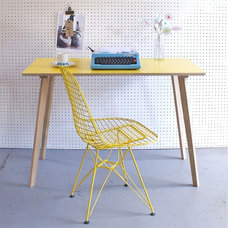 Winter's Moon — Perky Formica Table / Desk in Yellow