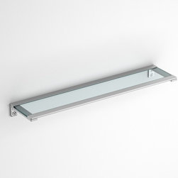 Componendo - Flatty Shelf | Componendo - Made in Italy by Componendo.A part of the Flatty Collection. The Flatty Shelf adds sleek modern appeal to bathrooms in need of a little extra storage space. The tempered glass shelf provides reliable support for bath accessories and toiletries of any size while the sleek styling upgrades bathrooms with ease. Available in multiple sizes. Product Features: