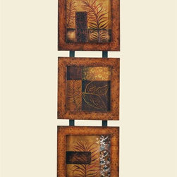 Bassett Mirror - 3 Panels Traces of Leaves Decorative Wall Pla - 3 Panels. 16 in. L x 51 in. H (21 lbs.)