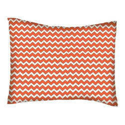 SheetWorld - SheetWorld Twin Pillow Case - Percale Pillow Case - Orange Chevron Zigzag - Pillow case is made of a durable all cotton percale material. Fits a standard twin size pillow. Features a Orange Chevron Zigzag print.