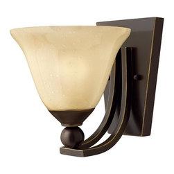 Hinkley Lighting - Single-Light Sconce - 4650OB - Olde bronze finish with light amber seedy glass. This single-light sconce will warm up any interior. The light amber shade will provide a pleasing glow when lit. Takes (1) 100-watt incandescent A19 bulb(s). Bulb(s) sold separately. Dry location rated.