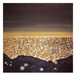 Bryan Boomershine Art - Large LA City Landscape Painting - Title: LA Glow