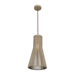 Access Lighting - Access Lighting 23774-WD/NAT Kobu Modern Pendant Light - WD/NAT - Access Lighting 23774-WD/NAT Kobu Modern Pendant Light In WD/NAT