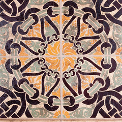 eclectic floor tiles by Rebekah Zaveloff