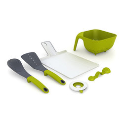 Joseph Joseph - Big Foot Cutting Board - Joseph Joseph - This heavy-duty chopping board is made form extra-thick polypropylene and has large rubber feet, providing excellent grip on any kitchen worktop. It's easy-clean cutting surface will not blunt knives and the rubber feet can be conveniently removed and replaced in the opposite side of the board, making the product reversible. Available in red, green, white & gray.