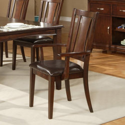 Alpine Furniture - Alpine Furniture Bradbury Arm Chairs - Cappuccino - Set of 2 Multicolor - 637-23 - Shop for Dining Chairs from Hayneedle.com! Designate the heads of the table with these elegant and dignified Alpine Furniture Bradbury Arm Chairs - Cappuccino - Set of 2. Designed with traditional style and classic charm they make a great addition to any table. Made from rubberwood solids and cherry veneers they are at once beautiful and durable. Matching faux leather upholstery envelops the cushioned seat.About Alpine CorporationAlpine Corporation has offices in Arizona Colorado Florida Iowa and Ohio. With a firm belief in the free enterprise system Alpine Corporation promotes equal treatment for customers employees shareholders suppliers and the community. Alpine Corporation carries a vast array of items including fountains pond and garden accessories and statuary and carries lighting and parts as well. A steadfast goal for Alpine Corporation is to continually exceed their customers' increasing expectations.