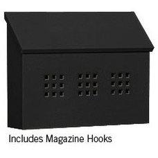 Contemporary Mailboxes Salsbury Horizontal Mailbox in Black