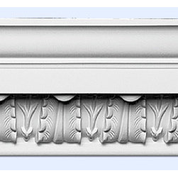 "Inviting Home - Stansbury Crown Moulding - 8ft Length - Crown Moulding 5-1/2""H x 5-5/8""P x 7-7/8""F x 8'00""L repeat - 2-11/16 moulding sold in 8 foot length 4 piece minimum order required crown molding specifications: - outstanding quality crown molding made from high density polyurethane: environmentally friendly material is hypoallergenic and fully recyclable no CFC no PVC no formaldehyde; - front surface of this molding has extra durable and smooth surface; - crown molding is pre-primed with water-based white paint; - lightweight durable and easy to install using common woodworking tools; - metal dies were used for consistent quality and perfect part to part match for hassle free installation; - this crown molding has sharp deep and highly defined design; - matching flexible molding available; - crown molding can be finished with any quality paints; Polyurethane is a high density material--it�۪s extremely lightweight and easy to install (and comes primed and ready to paint). It is a green material meaning its CFC and formaldehyde free. It is also moisture resistant--so it won�۪t shrink flex or mold. What�۪s also great about Polyurethane is that it�۪s completely customizable and can be treated as wood (you can saW it nail it screW it and sand it). In addition our polyurethane material comes primed and ready to paint. There is a four piece minimum requirement for this molding purchase."