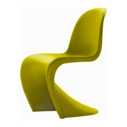 Vitra New Panton Chair | Design Public - Designed by Verner Panton in 1967, this curvacious dining chair has been grabbing attention for almost half a century. Available in a rainbow of color choices, it also makes a stunning desk chair or occasional chair in any room of the house.