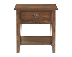 Broyhill - Broyhill Attic Heirlooms Vintage 1 Drawer/1 Shelf Night Stand-Natural Oak Stain - Broyhill - Nightstands - 439792S - About This Product: