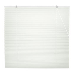 Oriental Furniture - White Pleated Shades - (48 in. x 72 in.) - Inexpensive, and easy to install, window treatments in classic white. No need to cut to size, practical modern style retractable blinds with a pleated polyester fabric collapsible shade installs right on the window frame, hardware included. Fits any window up to six feet tall.