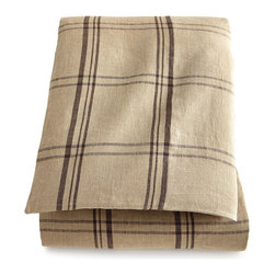 """Pine Cone Hill - Queen Windowpane Plaid Linen Duvet Cover 88"""" x 88"""" - JAVA/NATRAL (QUEEN) - Pine Cone HillQueen Windowpane Plaid Linen Duvet Cover 88"""" x 88""""Designer About Pine Cone Hill:Pine Cone Hill designed by Annie Selke is a collection of bed linens with Selke's signature charming prints and patterns. The designer began making her Pine Cone Hill linens with a sewing machine on her dining room table. Today the collection has fans across the country who love the line's easy sophistication."""
