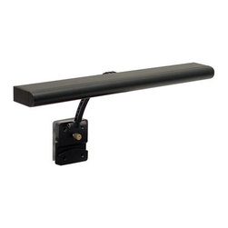House of Troy - Advent Battery Operated LED Clip-On  Task Light - House of Troy ALED15-7 - Perfect for illuminating art work or sheet music on your piano, organ or orchestra stand. Black Finish. 15W x 6Deep. Takes one 4 watt LED bulb (included). Weight: 2 lbs. By House of Troy