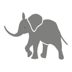 My Wonderful Walls - Baby Elephant Stencil for Painting - - Baby elephant wall stencil for jungle theme wall mural