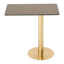 Tom Dixon - Rectangular Flash Side Table - In the spirit of Tom Dixon's iconic Mirror Ball, the Flash Rectangular Table features a mirrored bronze top and a brass plated steel base, resulting in an uncompromising metallic surface. A stunning table with a highly reflective surface!