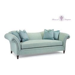 Mathilde Sofa by John Richard - The Mathilde Sofa is an elegant addition to any room, with its beautiful curved lines, rolled arms, and nailhead trim.