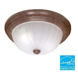 Glomar - Glomar 2-Light Flush-Mount Old Bronze Dome Light Fixture HD-449 - Shop for Lighting & Fans at The Home Depot. This Glomar Green Matters 2-Light Flush-Mount Old Bronze Dome Light Fixture has a handsome bronze finish to complement the decor of your hallway or foyer. This may take up to 5 days in delivery. Easy installation instructions and template enclosed for convenient setup.