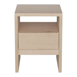 """Urbangreen - Thompson End Table - Designers' contemporary approach to the urban need for storage created this Thompson End Table. Features: -Material: Real wood, veneers free of formaldehyde glues.-Not harmful for humans and pets.-Attention to detail, optimizing wood use.-Hand made by craftsmen following smart design techniques.-Avoid to use chemical cleaners.-Made in the USA.-Sustainable, eco-friendly.-Drawers all run on top of the line steel..-Drawer runners are under mount, concealed under the drawer, soft self closing, full extension heavy duty Tandem, Blumotion, guaranteeing superior function as well as looks.-Banging drawers shut is no longer an issue.-Drawers close discreetly and items inside stay in place.-Drawer interiors are deep, durable, and carefully joined..-Drawer interiors are smooth wood surfaces, no roughness or saw dust..-24"""" H x 20"""" W x 20"""" D, 30 lbs.-Hand sanded and hand finished with high quality waterborne stains, paints and top coats.-Lowest VOC finishes.-Thompson collection.-Collection: Thompson.-Distressed: No.-Country of Manufacture: United States.Dimensions: -Overall Product Weight: 30 lbs."""
