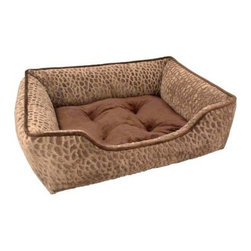 Paws & Claws Zuma tip-dyed Micro Mink Rectangular Cuddler Bed - With the Paws & Claws Zuma tip-dyed Micro Mink Rectangular Cuddler Bed you can create a cozy place for your dog without sacrificing your home's decor. Its simple rectangular shape fits neatly in any corner while its tip-dyed micro mink fabric with contrast piping creates a simple and sophisticated look. The wrap-around bolster creates the ultimate cuddling zone for your pup while the tufted, removable and machine-washable cushion keeps the fill in position for superior comfort. Constructed with durable fabric and lock-stitch seams, this bed is strong and tear-resistant.About Arlee Home FashionsArlee Home Fashions, Inc. manufactures and markets household textiles like decorative pillows, chair pads, floor cushions, curtains, table linens, and pet beds. The company was incorporated in 1976 and is based in New York, New York.