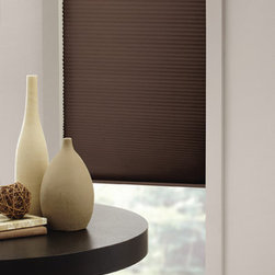 UHF - Cappucino Fabric Cordless Cellular Shade - Create a bit of privacy in your room while still allowing the sunlight to filter through your window with this child-safe cordless cellular shade. The shade can be opened and closed with a pull,removing the need for a cord that could endanger children.