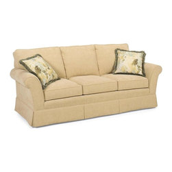 Fairfield Chair Company - Sofa w Loose Back (Fabric: Amber) - Fabric: Fabric: AmberLoose seat. Made from hardwood. Seat Height: 20 in.. Arm Height: 26 in.. Seat Depth: 21.5 in.. Inside Width: 67 in.. Overall: 87.5 in. L x 36.5 in. W x 36 in. H