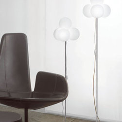 Tybo Floor Lamp By Modiss Lighting - Tybo Floor by Modiss is a series of clustered four bubble glass lamps, which make up a complete line of lights.