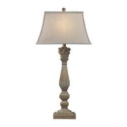 Dimond Lighting - Dimond Lighting 93-9115 Bidarry Bleached Wood Table Lamp - Dimond Lighting 93-9115 Bidarry Bleached Wood Table Lamp
